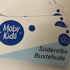 Flyer für Moby Kids Kurse